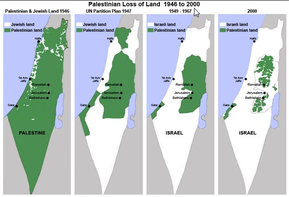 IsraelPalestine Map Censorship Information Clearing House ICH - Israel maps